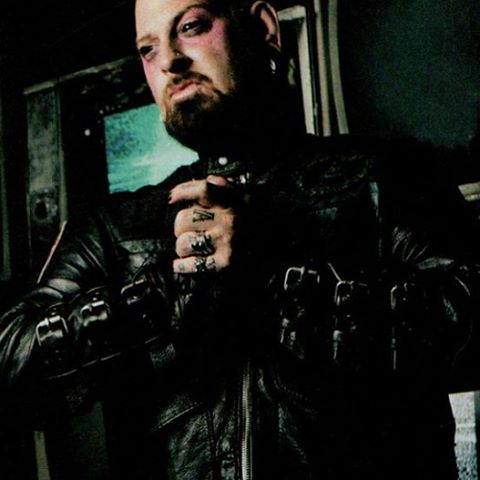 Bad ass @shanemunce shot in his #custom #black #leather #junkerdesigns #jacket photo by #Steveprue #fashion #art #halloween #WEARITLOUD