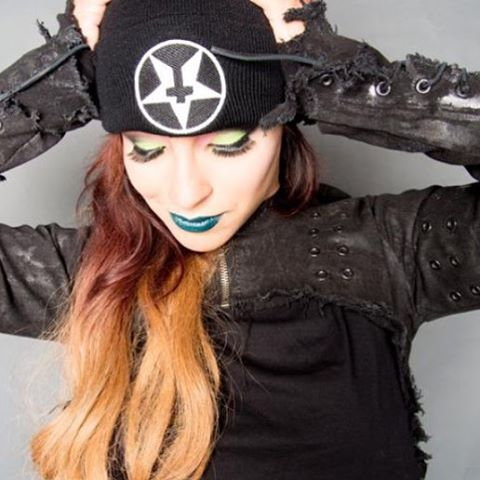 Always fun @sunny_suicide in a #hellstar #knitcap and #black #denim #shrug with #hardware . Made to order.  #germany #france #norway #sweden #russia #finland #england #france #canada #fashion #beanie online now #WEARITLOUD